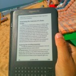 eBook Reader on the Beach